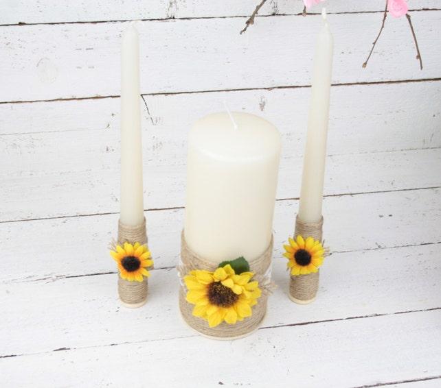 Rustic Wedding Unity Candle Set Wedding Gift Personalised Wedding