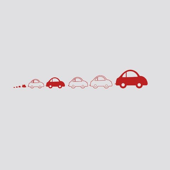 car wall decal kids car wall decal nursery wall car decal | etsy