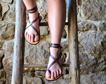 Purple Leather Sandals Women , Sandals, barefoot sandals, women, flat sandals, strap sandals, adjustable, comfort sandals