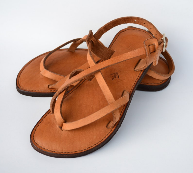 b04be1daeee1 Leather sandals women s sandals camel sandals brown