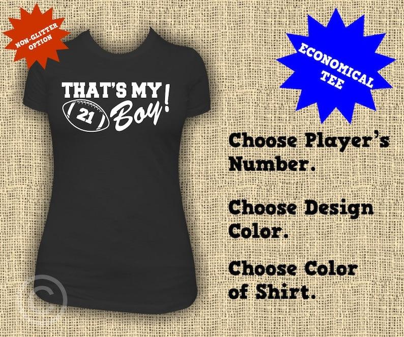 8e1843c84 That's My Boy Football Mom Economical Shirts Women's | Etsy