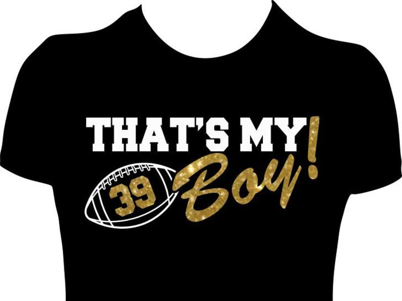 b6b546a6d That's My Boy Football Mom Shirts Women's Shirt | Etsy