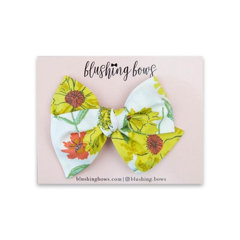 Hand Tied Fabric Bow Toddlers and Babies Hair Bow Headband Flowers for Girls