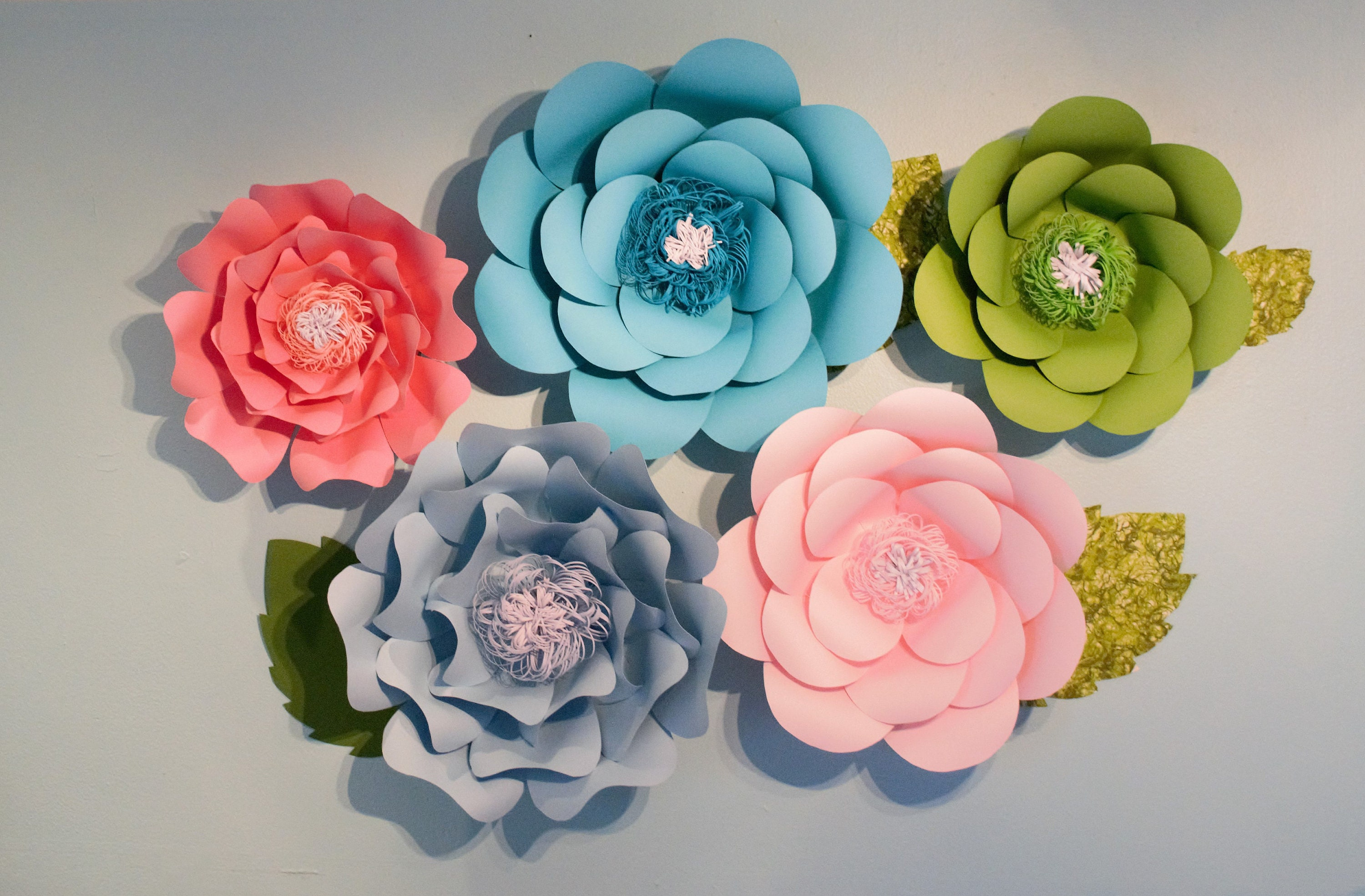 Giant Paper Flowers Paper Flower Wall Decor Paper Flowers Etsy