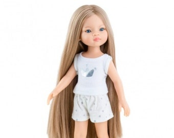 Paola Reina Las Amigas Spanish Doll Asian Sculpt Blonde extra long hair for customizing
