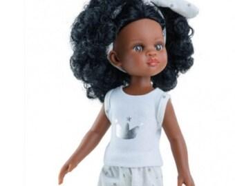 FLAWED Paola Reina Las Amigas Spanish Doll Black Dark skin for customizing
