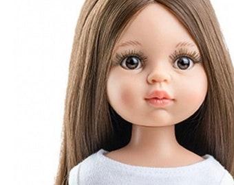 Paola Reina Las Amigas Spanish Doll brown extra long hair for customizing