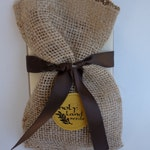 Jute Bag of Olive Seeds From the Holy Land