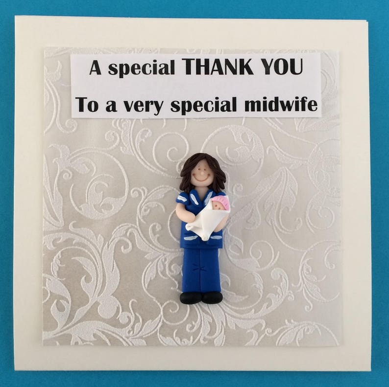 thank you midwife doctor mentor personalised handmade