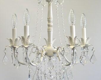Shabby chic chandelier etsy aloadofball Images