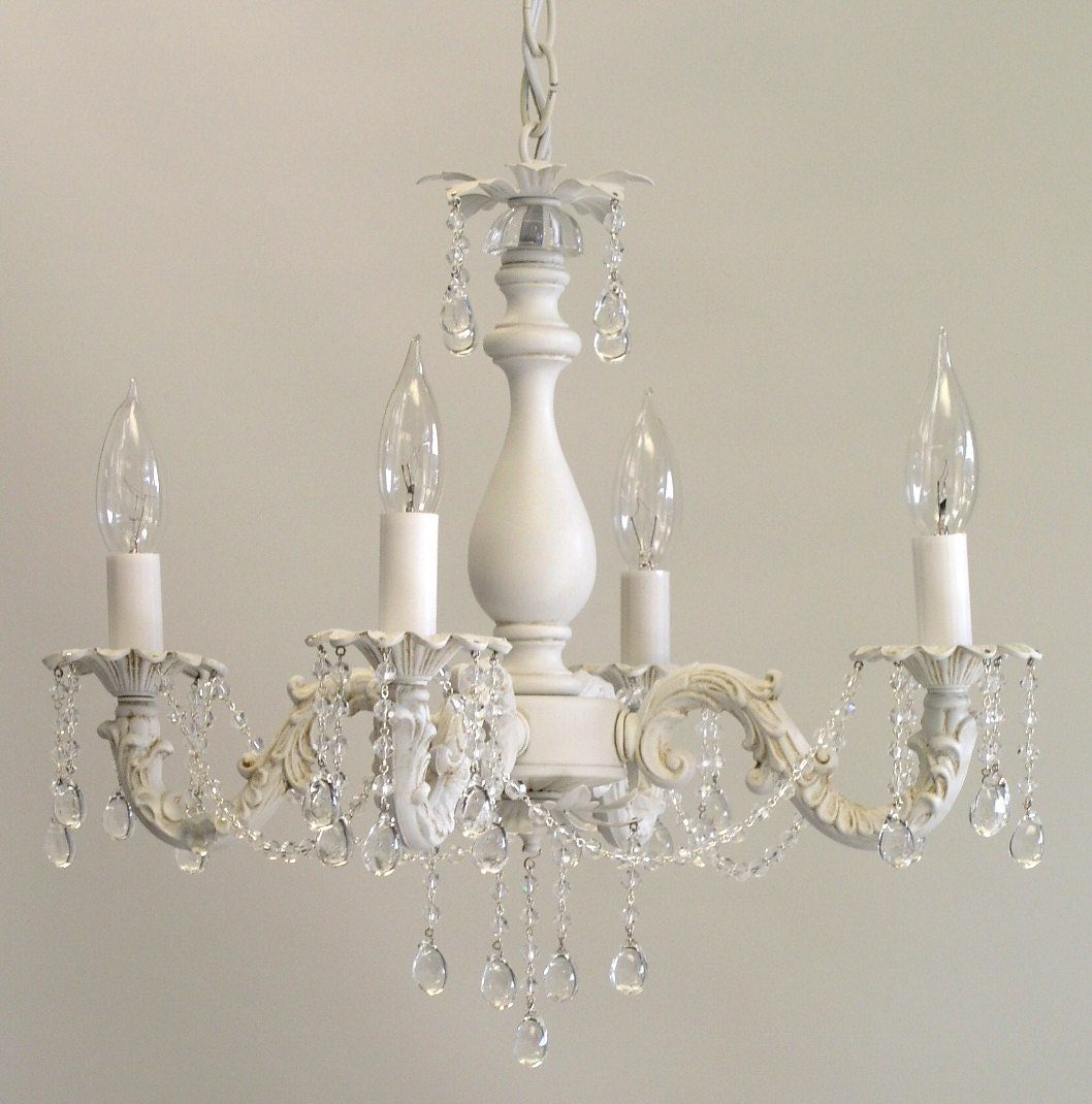 Amazing Shabby Chic Cottage Style Mini Chandelier Anna Custom Hand Download Free Architecture Designs Scobabritishbridgeorg