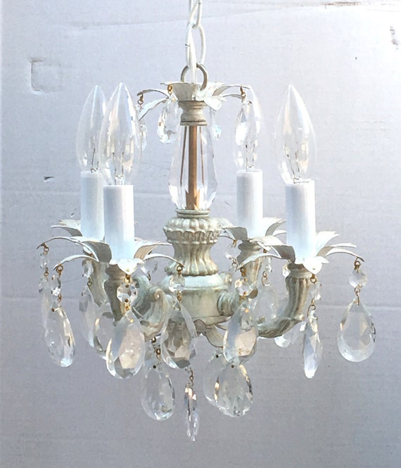 Superb Shabby Chic Cottage Style Mini Mini Chandelier Perfect For A Girls Bedroom Room Closet Or Bathroom Custom Made To Order Download Free Architecture Designs Scobabritishbridgeorg