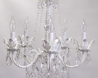 Shabby chic chandelier etsy bebe chandelier shabby chic aloadofball Gallery