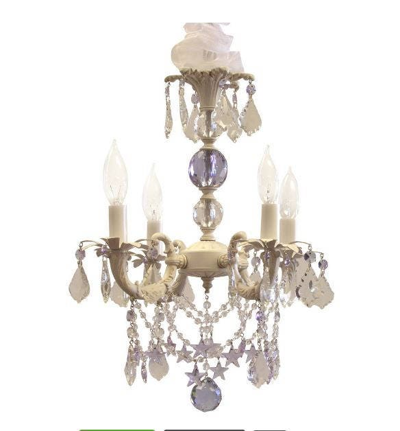 Pleasing Shabby Chic Cottage Style Mini Chandelier Sugar Plum Download Free Architecture Designs Scobabritishbridgeorg