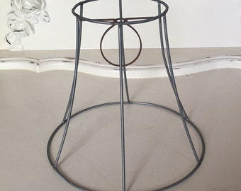 Lamp shade frame etsy small bell shape wire shade frame greentooth Gallery