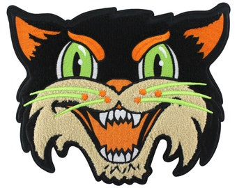 Halloween Cat (chenille back patch)