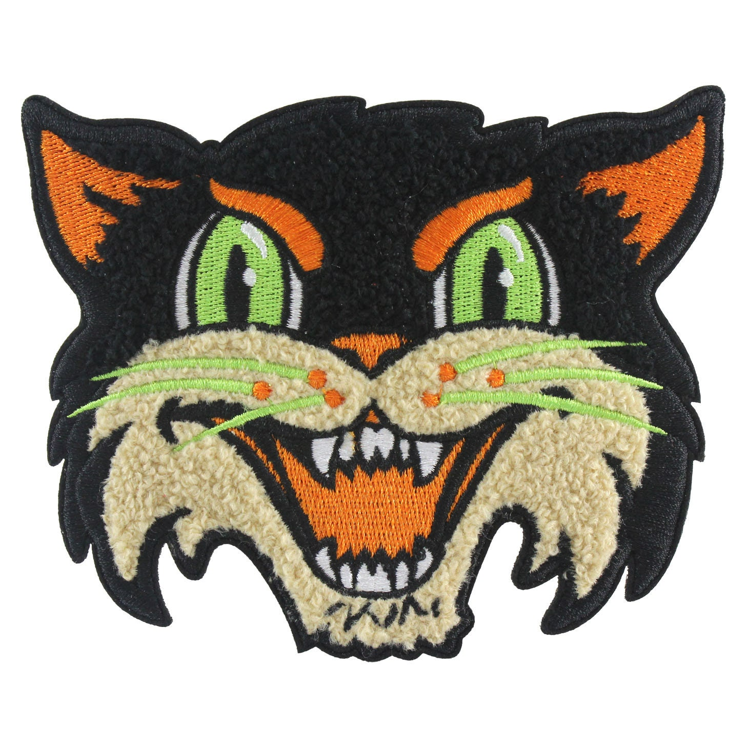 chenille patch Halloween Cat