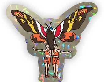 Mothra & the twins (prism sticker)