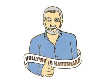 Hollywood Handshake (enamel pin)