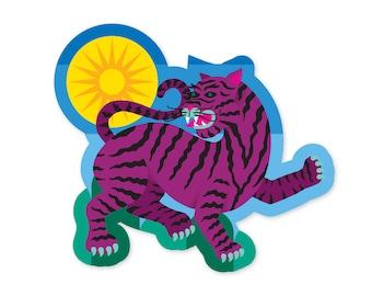 Purple Tiger (sticker)