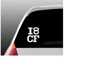 I Love CF Car Window Decal