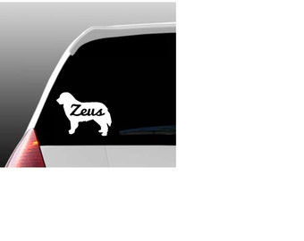 Personalized Bernese Mountain Dog Car Window Decal