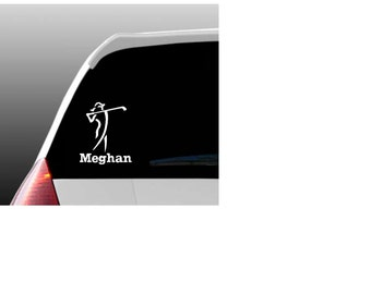 Personalized Golf Car Window Decal