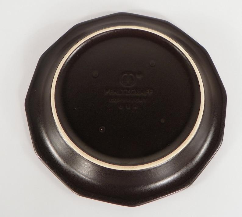 s Pfaltzgraff HERITAGE BLACK 4-pc Lot Stoneware USA 2 Salad Plate s 2 Bowl
