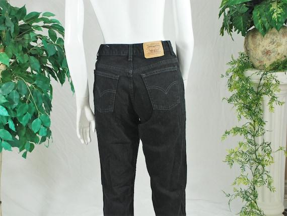 Levi's Black Mom Jeans | Vintage Levi's High Wais… - image 2