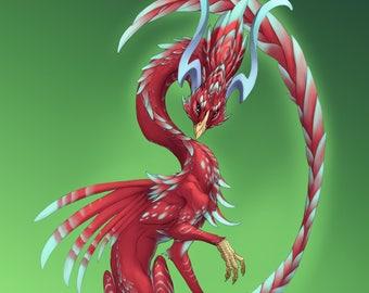 Avian Dragon Fantasy Print