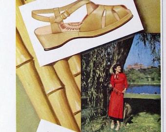 1950 Penaljo Bamboo Shoes Ad - Retro 1950s Sandals Advertisement