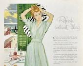 1956 Pepsi Cola Print Ad - Retro 1950s Bathroom Decor - Union Pacific Railroad Ad - Travel Poster