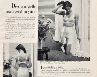 1950 Warner's 3 Way Foundations & Bras Ad - 1950s Bra and Girdle Ad