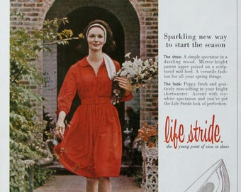 1963 Life Stride Shoes Ad - Brown Shoe Company - 1960s Print Ads