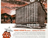 1963 Hong Kong President Hotel Ad - 1960s Far East Travel Print - Asia Orient Luxury Vacation - Isle of Fragrant Waters