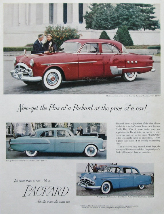 Packard Patrician Ad S Classic Car Advertising Etsy - Classic car ads