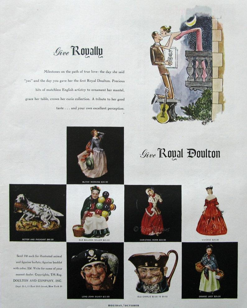 1953 Collection Années 1950 Des De Publicitaire Doulton Figurine Publicité Royal lJFcTK1