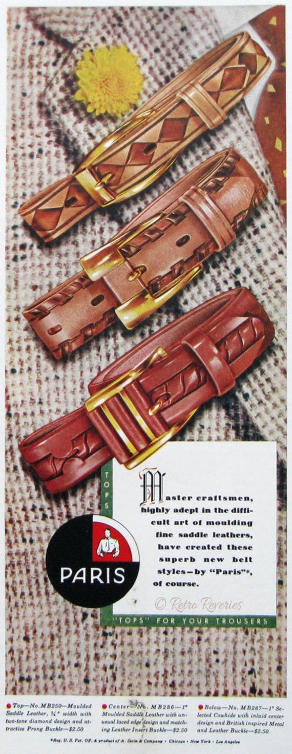 1953 Paris Gürtel Werbung Embelished Leder Gürtel Tops für