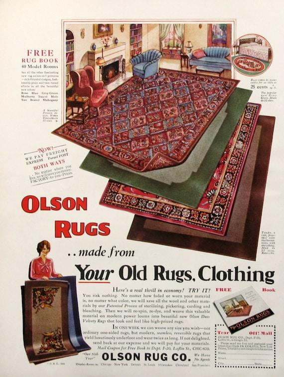 wohnzimmer design ideen olson, 1930 olson teppiche ad 30er jahre wohnzimmer dekor | etsy, Ideen entwickeln