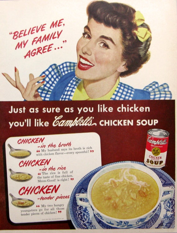 1950 Campbell Huhn Mit Reis Suppe Ad Campbells Soup Ad Etsy