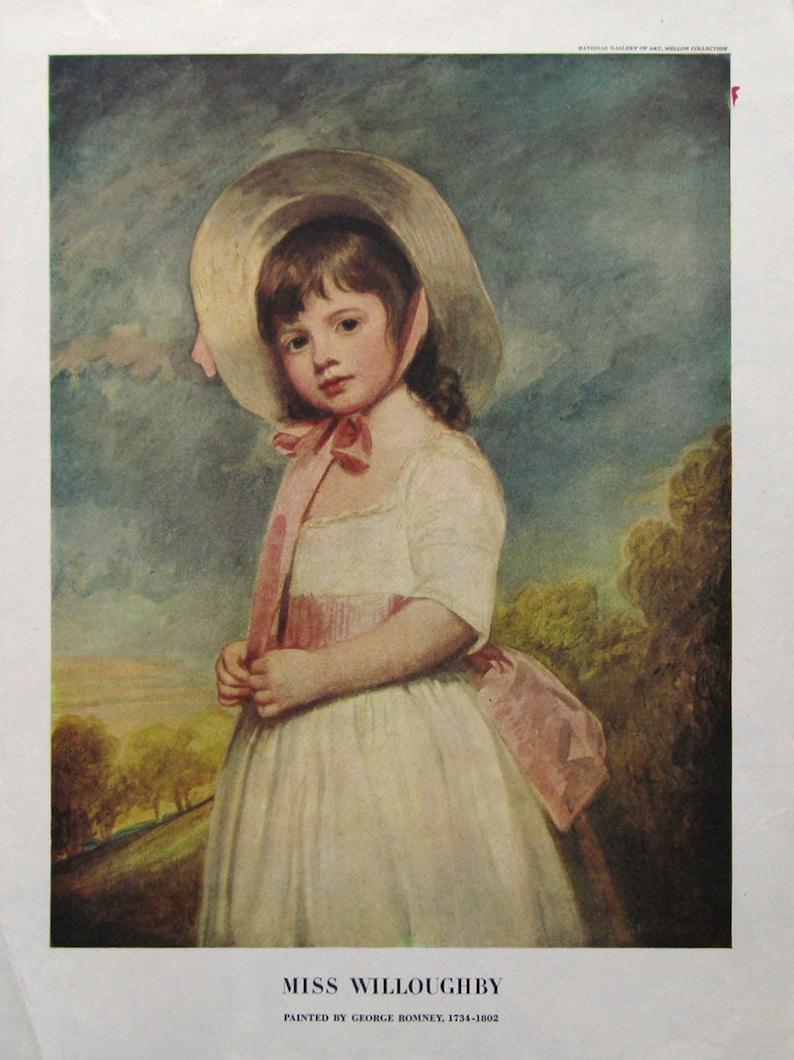 Portrait de 1949 Miss Willoughby chambre Decor Art Print | Etsy