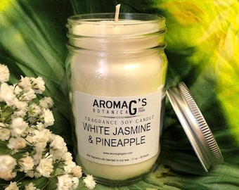 White Jasmine & Pineapple Soy Candle
