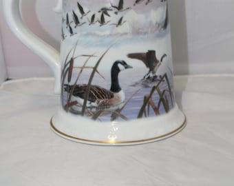 """Vintage 1983 Franklin Porcelain """"The Canada Goose Stein"""""""