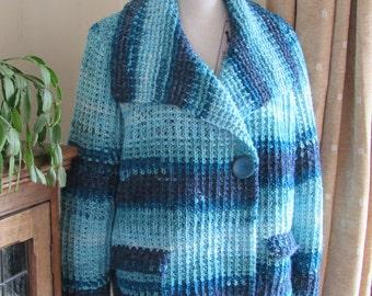 Tunisian Crochet Pattern - Woodland Jacket