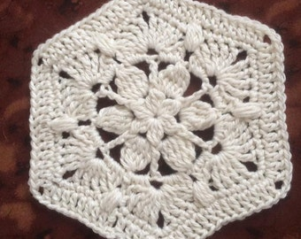 Crochet Pattern - Daphne Crocheted Hexagon