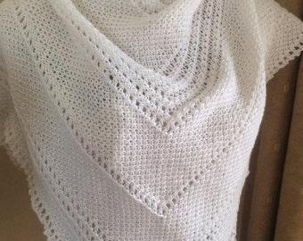 Tunisian Crochet Pattern - Dusty Days shawl