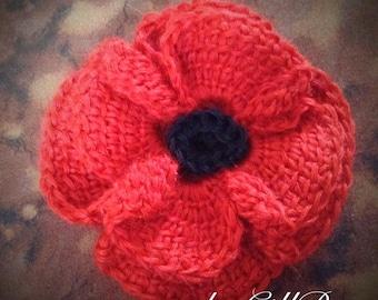 Tunisian Crocheted Poppy pattern