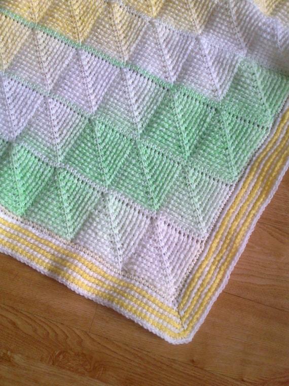 Tunisian Crochet Pattern Tunisian Diamond Entrelac Baby Etsy