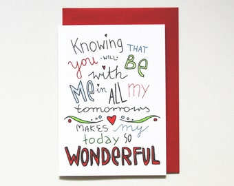 Love card * Anniversary card * Engagement card * Valentine Card * I love you card * size a6 comes with matching red envelope