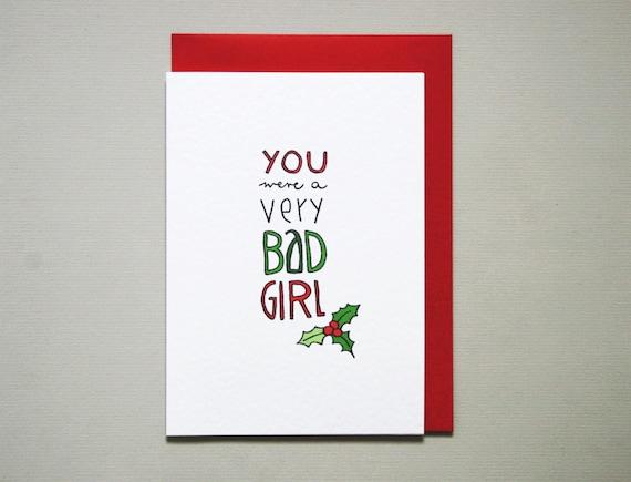 funny christmas card girlfriend wife christmas card  etsy